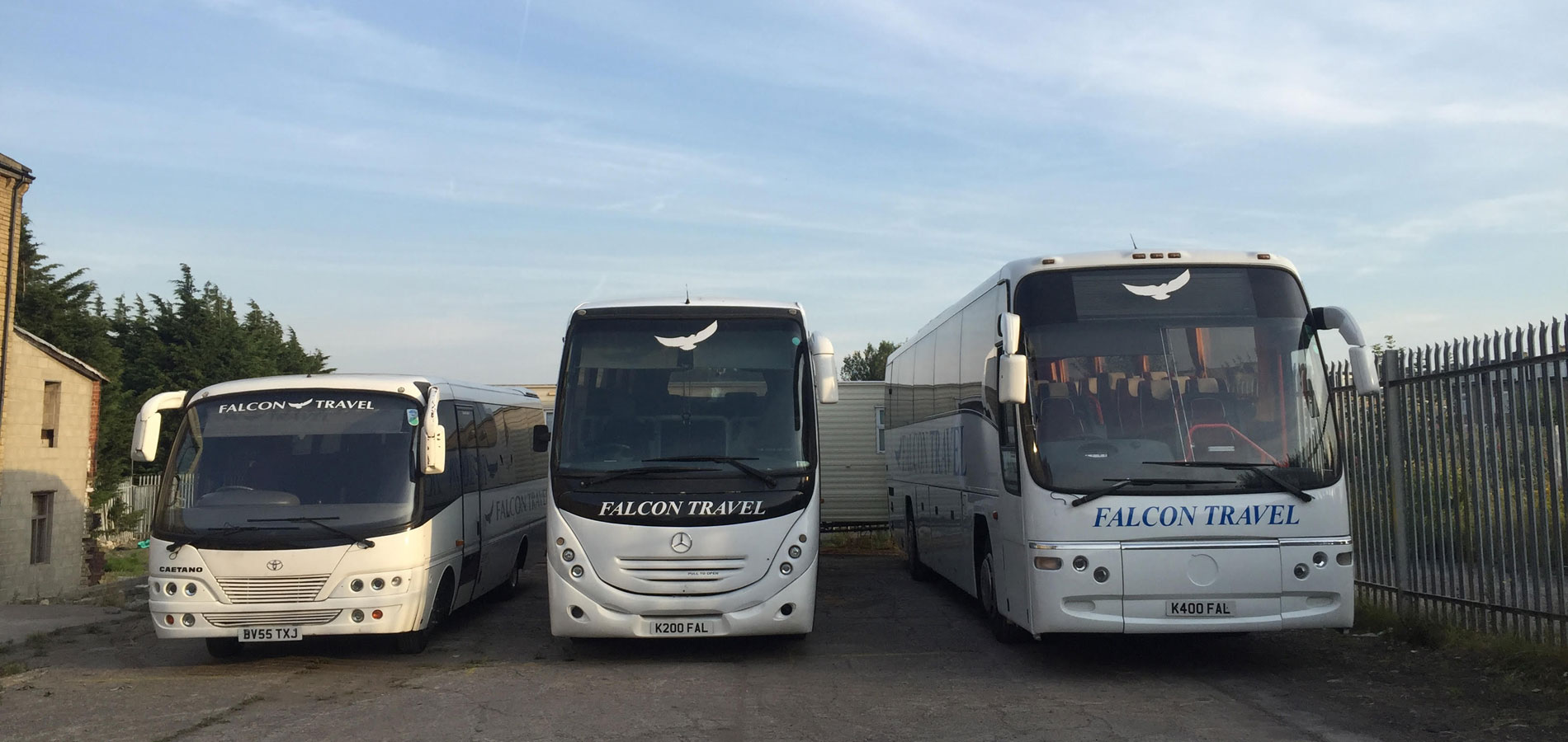 falcon travel buses x 3